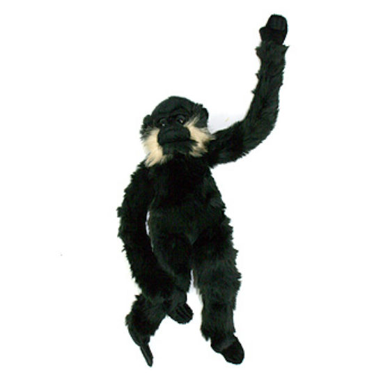 Exclusive Golden-Cheeked Gibbon Toy (Black)