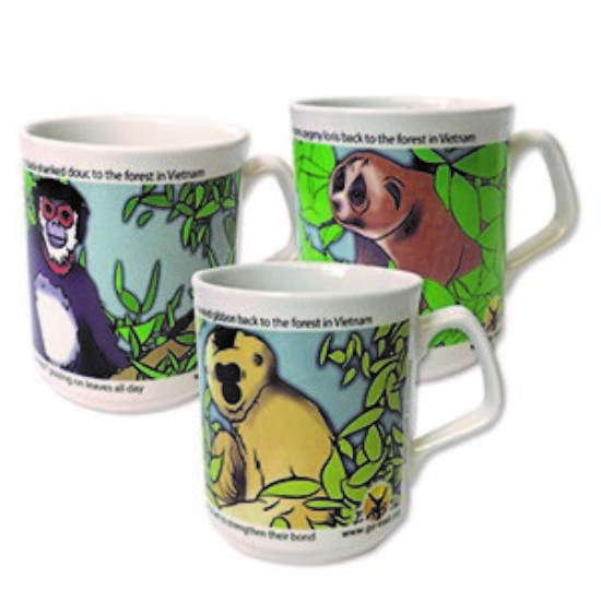 Set of 3: Primate EAST mugs